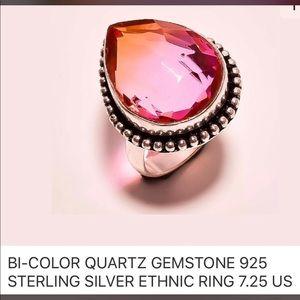 Jewelry - New Artisan Bi-Colored Quartz in 925 Silver